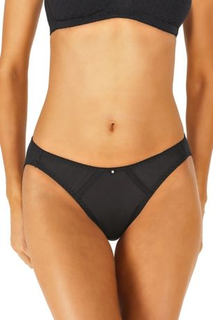 Dominique Satin Thong - Dominique traditional cut thong made of smooth, luxurious