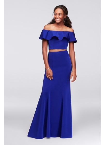 Long Mermaid/ Trumpet Off the Shoulder Formal Dresses Dress - Dave and Johnny