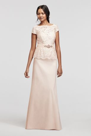 Mother of the bride dress style 3467DB in blush by David's Bridal