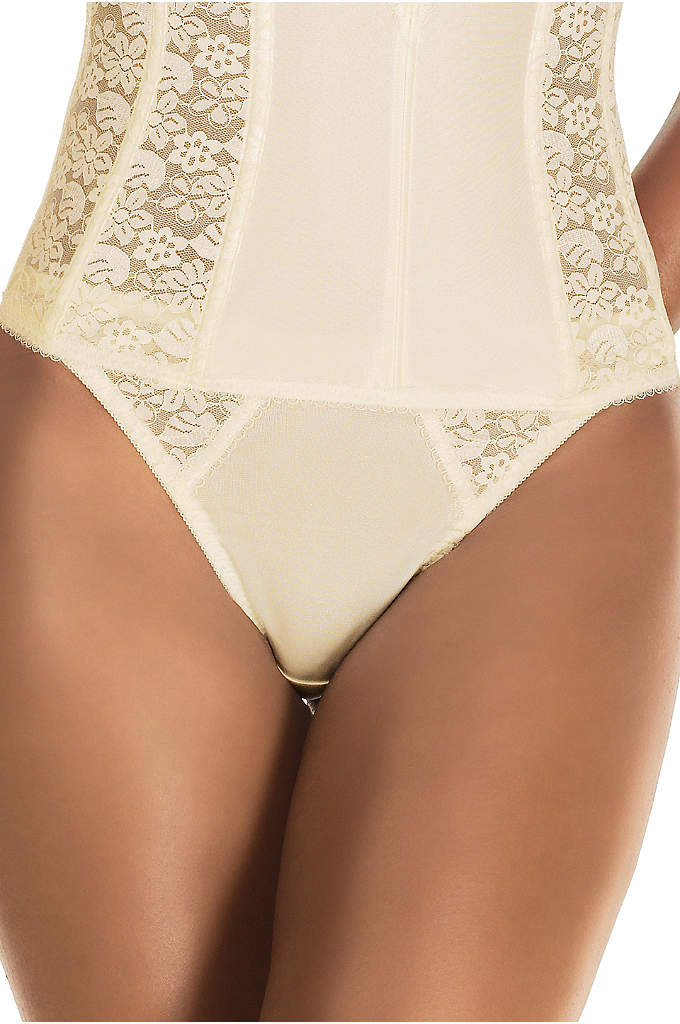 Dominque Lace thong - Dominique traditional cut thong made with smooth tricot