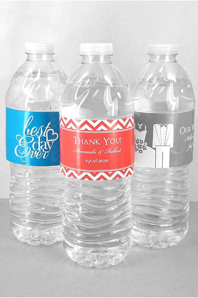 DB Exc Personalized Water Bottle Label Sheet of - Guests will remember special details of your wedding