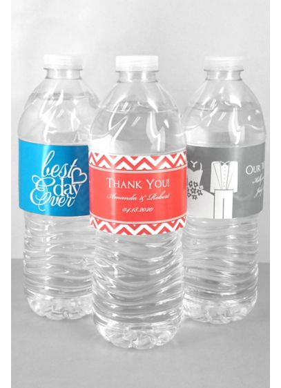 DB Exc Personalized Water Bottle Label Sheet of 5 - Wedding Gifts & Decorations