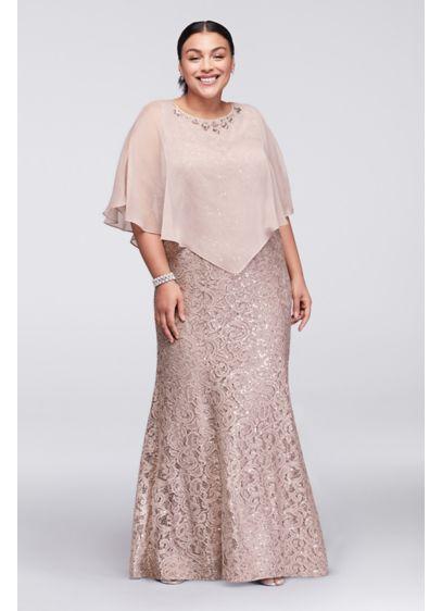 Long Mermaid/ Trumpet Capelet Formal Dresses Dress - Ignite