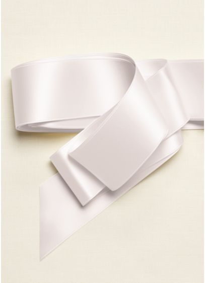 Wide Satin Sash Ribbon - Wedding Accessories