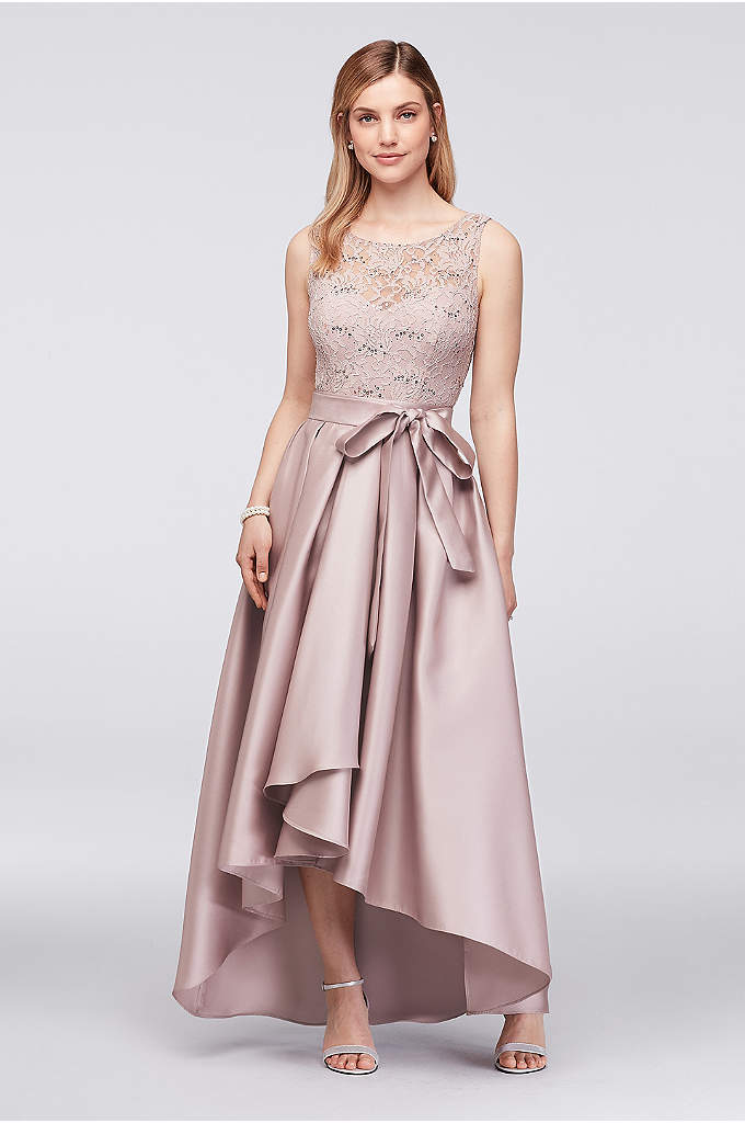 Sequin Lace Dress with Mikado Skirt - Perfect for a dressy wedding, this mother of