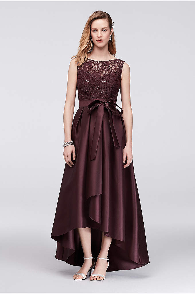 Lace Sequin Dress with Mikado Skirt - Perfect for a dressy wedding, this mother of