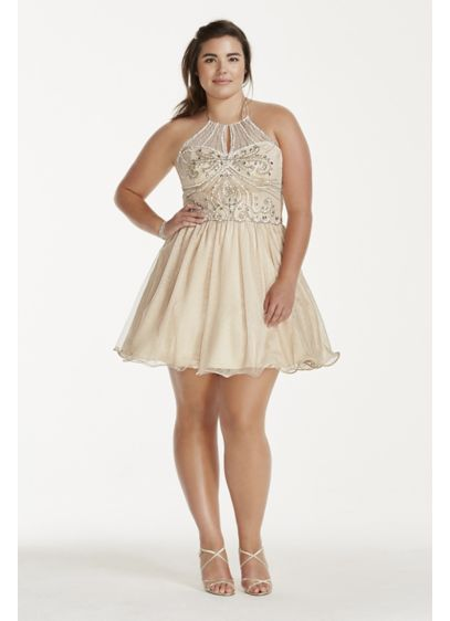 Short Ballgown Halter Quinceanera Dress - Masquerade