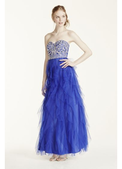 Long Ballgown Strapless Quinceanera Dress - Masquerade