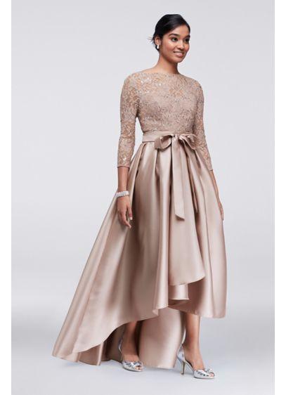 High Low Ballgown 3/4 Sleeves Formal Dresses Dress -