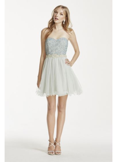Short A-Line Strapless Prom Dress - City Triangles