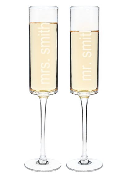 Personalized Contemporary Toasting Flute Set 3668