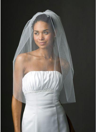 Bridal One Tier Blusher Veil - Wedding Accessories