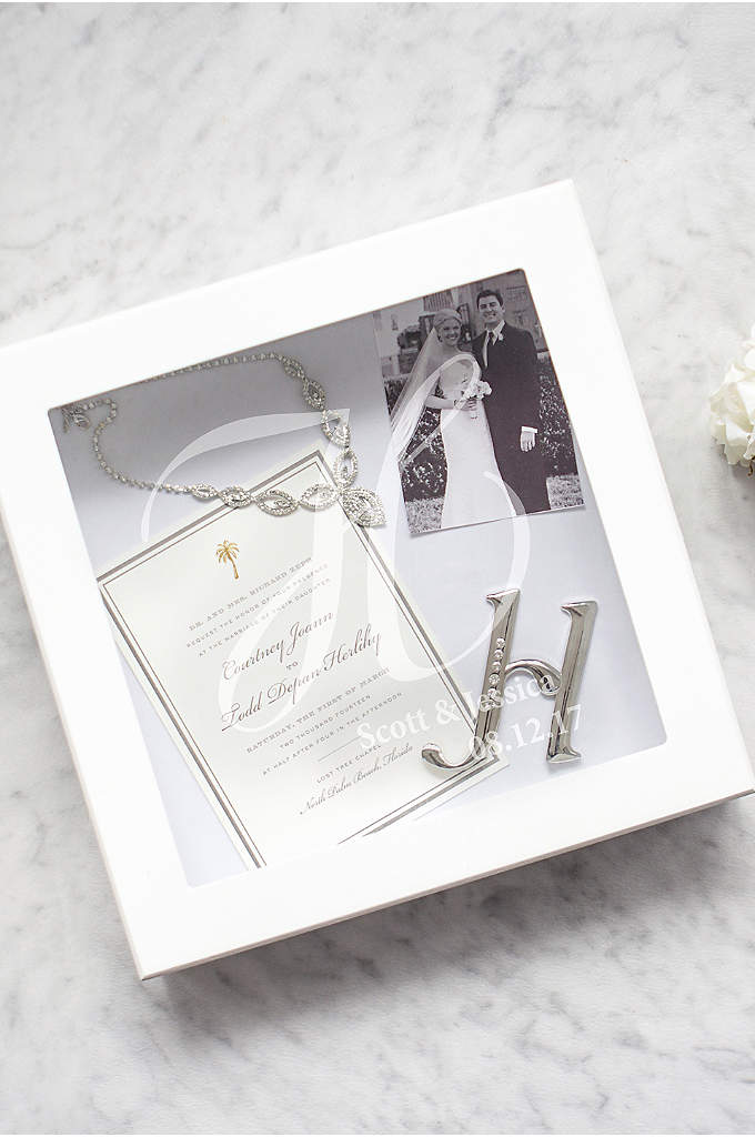 Personalized Wedding Keepsake Shadow Box - A striking piece for your special day and