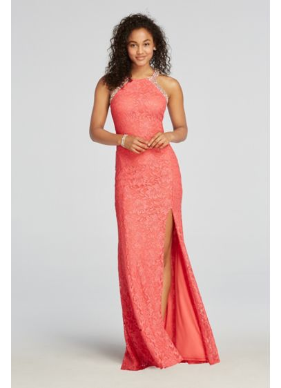 Long Mermaid/ Trumpet Halter Prom Dress - City Triangles
