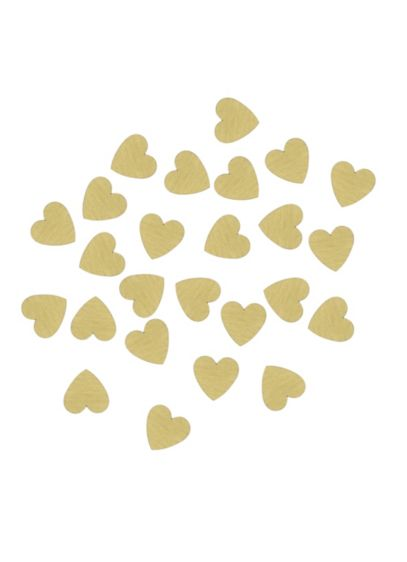 Set of 25 Wood Hearts for Floral Drop Guest Book - Wedding Gifts & Decorations