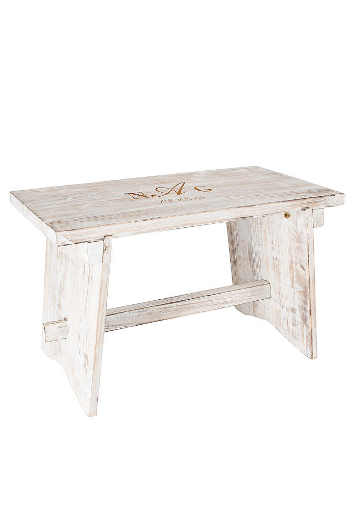 Personalized Monogram Guest Book Bench - Your guests will love this unique Personalized Monogram