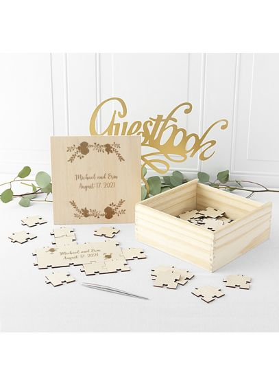 Personalized Wooden Guest Book Puzzle - Wedding Gifts & Decorations