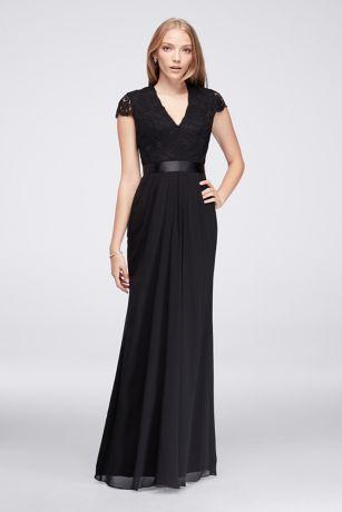Black Chiffon Dress with Sleeves