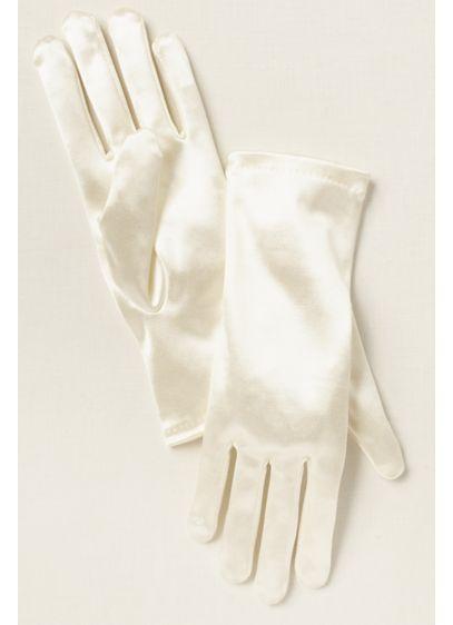 Greatlookz Girls Satin Wrist Length Gloves - Wedding Accessories