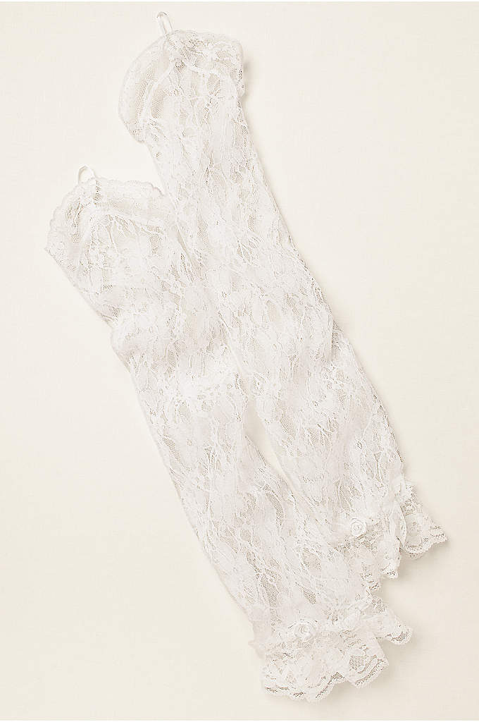 Greatlookz Lace Fingerless Long Gloves - These magnificent over the elbow fingerless lace gauntlet