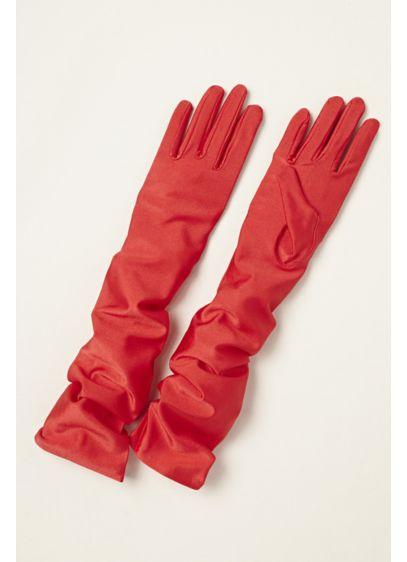 Greatlookz Matte Satin Over the Elbow Gloves - Wedding Accessories