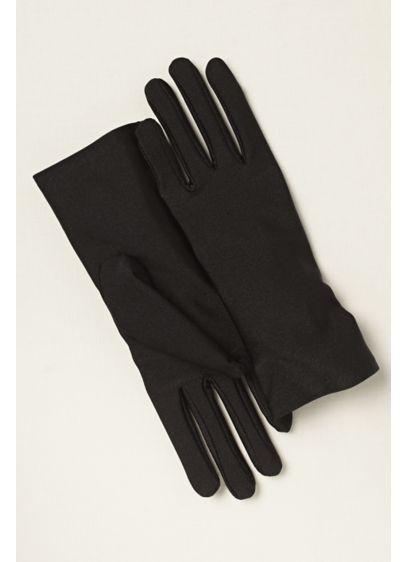 Greatlookz Matte Finish Satin Gloves Wrist Length - Wedding Accessories