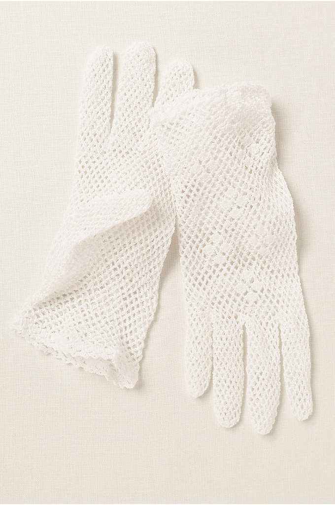 Greatlookz Cotton Crochet Shortie Gloves - Delightful crochet wrist length gloves are ideal for