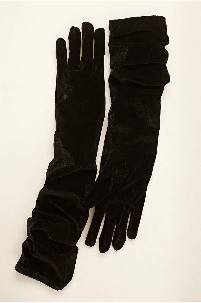 Greatlookz Velvet Opera Length Gloves - Perfect for any special occasion, take your evening