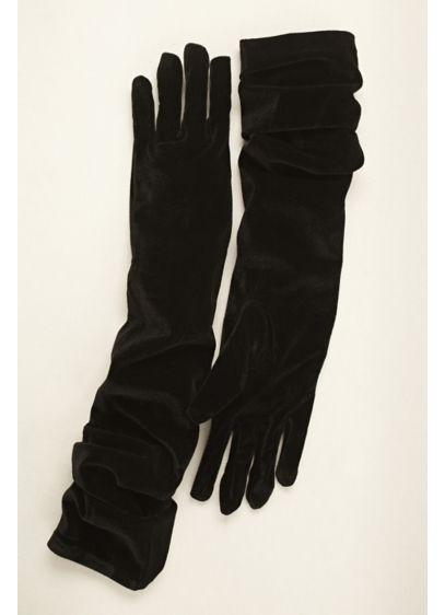 Greatlookz Velvet Opera Length Gloves - Wedding Accessories