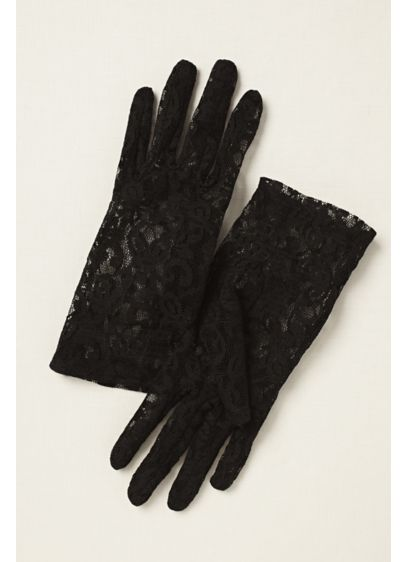 Stretch Lace Wrist Length Gloves - Wedding Accessories