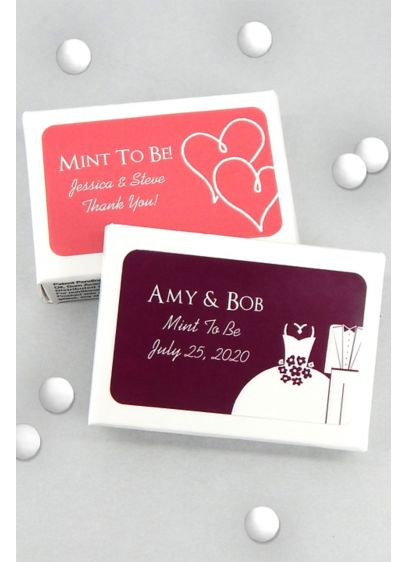 DB Exclusive Personalized Mint Box Favors - Wedding Gifts & Decorations
