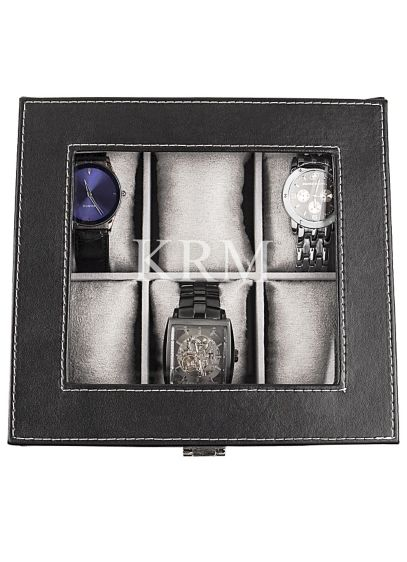 Personalized Leatherette Watch Box - Wedding Gifts & Decorations