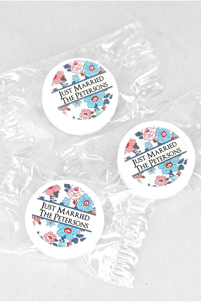 Personalized Floral Pattern Life Savers Mints - With these personalized candies, you can show your
