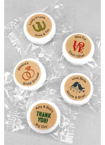 Personalized Kraft Life Savers Mints - Wedding Gifts & Decorations