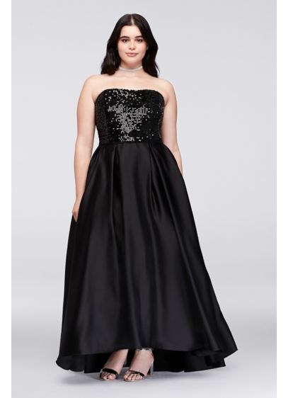 High Low Ballgown Strapless Prom Dress - Cachet
