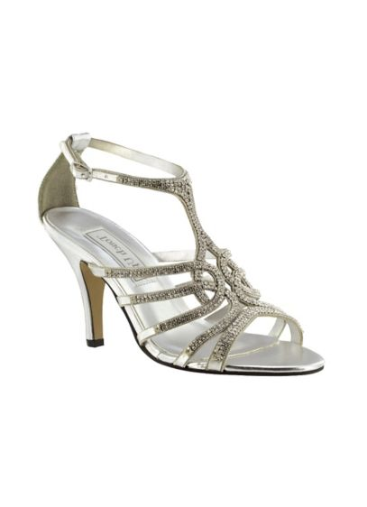 Touch Ups Grey (Sally Metallic Embellished T-Strap Heels)
