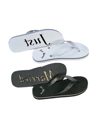 David's Bridal Black (Just Married Sandals For Him and Her)