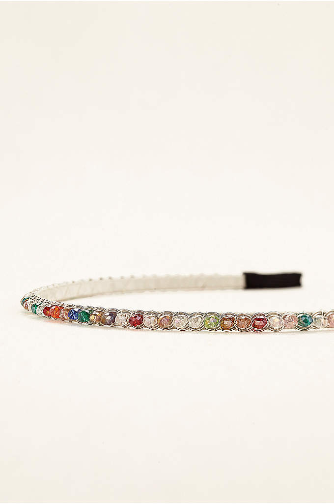 Multi Color Beaded Hard Headband - Style that's heads above the crowd! This multi-color