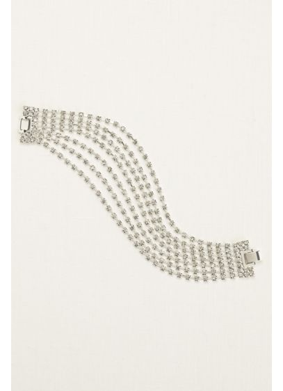 Seven Row Crystal Clasp Bracelet David S Bridal
