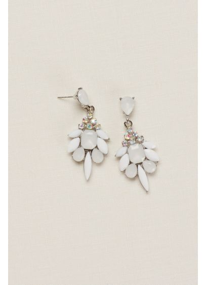 Multi Stone Faceted Earrings - Wedding Accessories