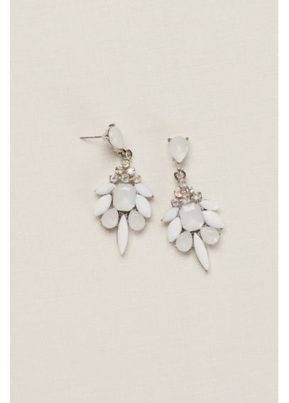 Multi Stone Faceted Earrings 409602E002