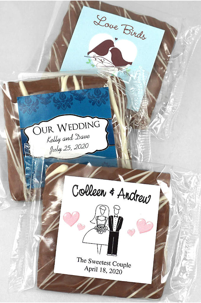 Personalized Chocolate Graham Cracker - Creamy, rich milk chocolate covers these crispy honey