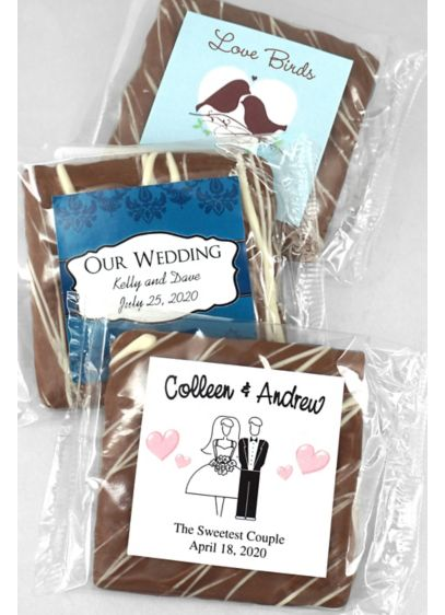 Personalized Chocolate Graham Cracker - Wedding Gifts & Decorations