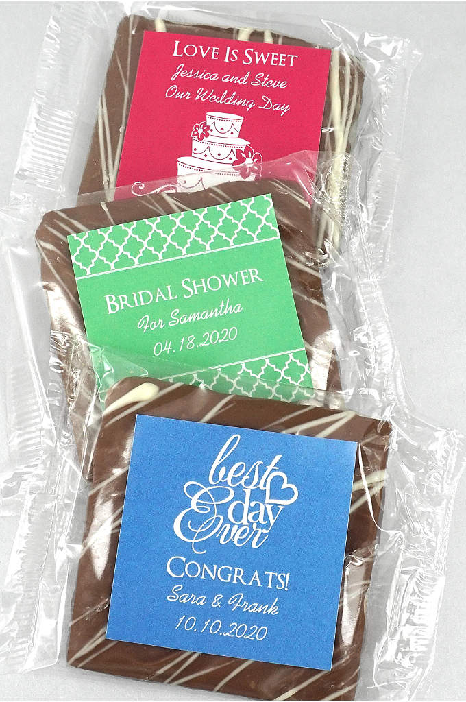 DB Exclusive Personalized Chocolate Graham Cracker - Creamy, rich milk chocolate covers these crispy honey