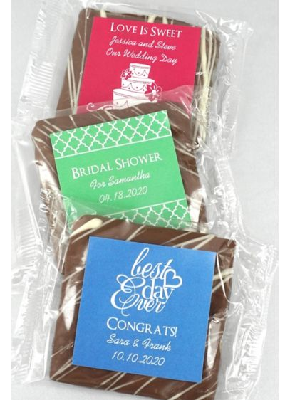 DB Exclusive Personalized Chocolate Graham Cracker - Wedding Gifts & Decorations