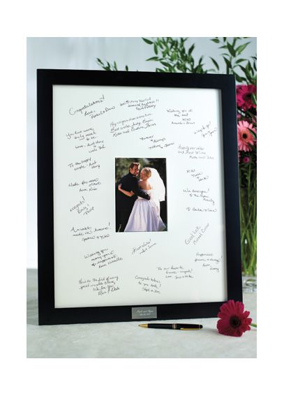 Personalized Guest Book Frame for Reception 41010302