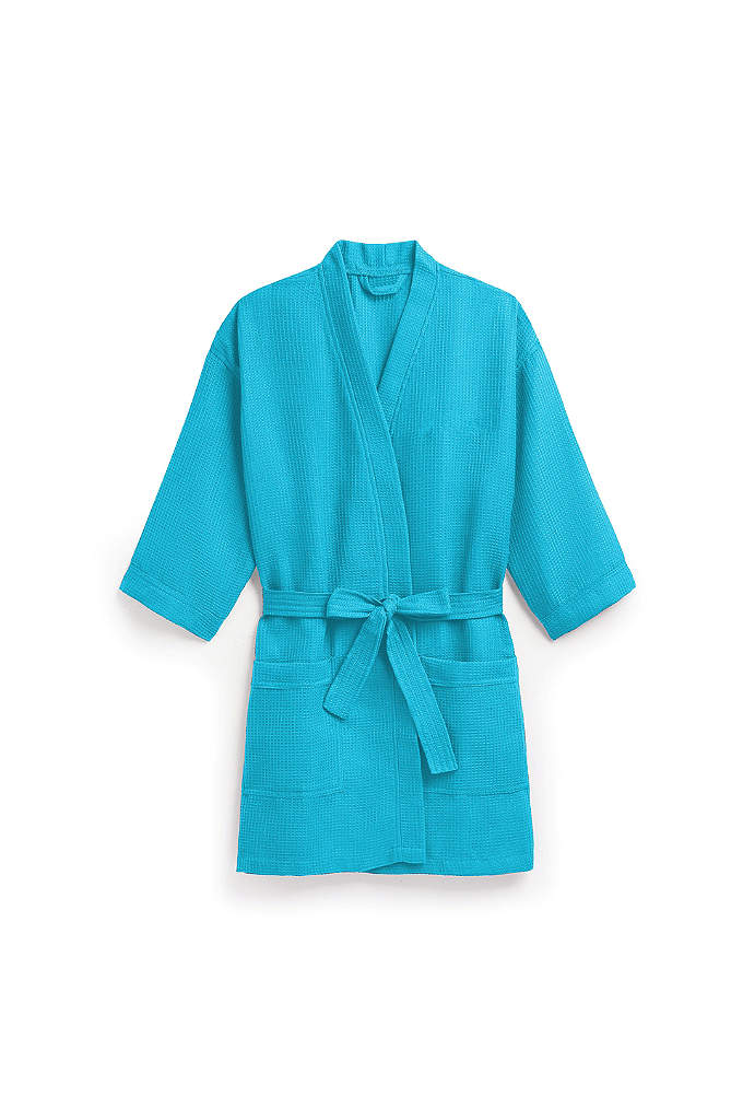 Personalized Waffle Kimono Robe - For the ultimate in personalized luxury, this waffle-weave