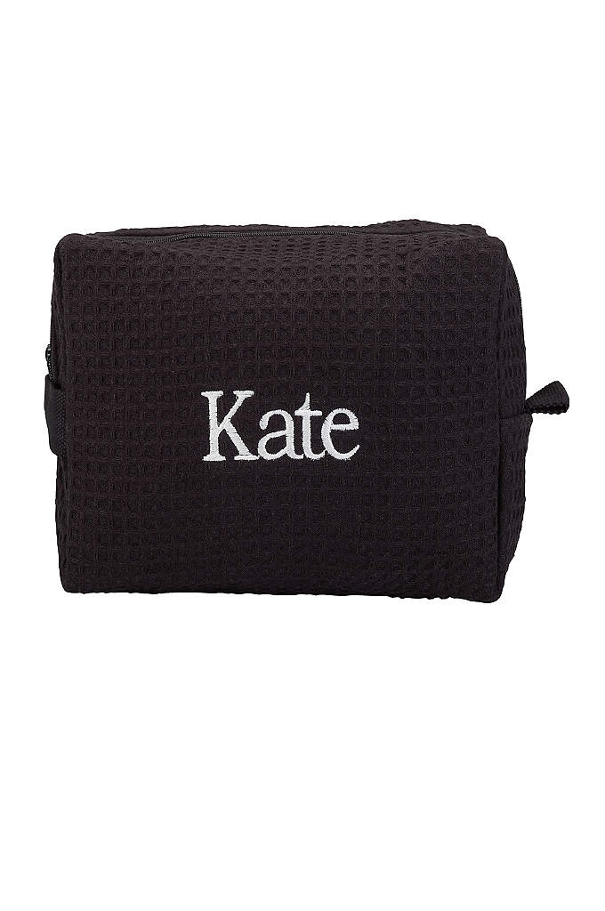 Personalized Waffle Weave Cosmetic Bag - This lovely Personalized Waffle Weave Cosmetic Bag is