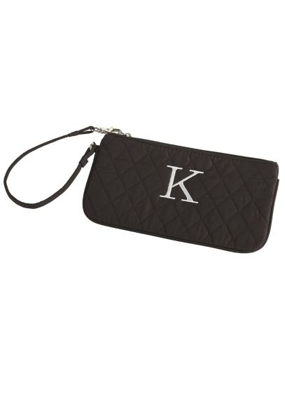 Black (DB Exclusive Personalized Quilted Wristlet)