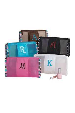DB Exclusive Personalized Mesh Cosmetic Bag - Your bridesmaids will never have to search to